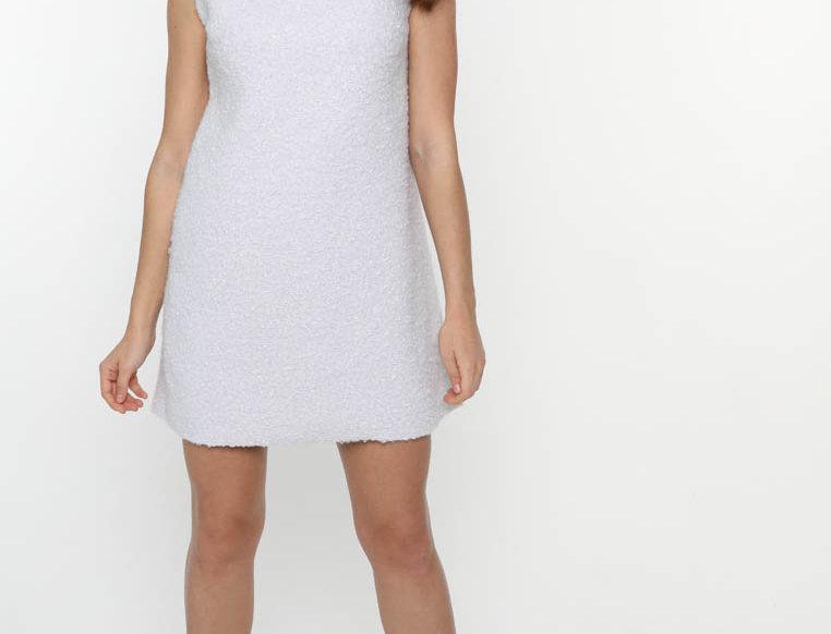 Платье из мягкого букле, цвет светло-сиреневый
