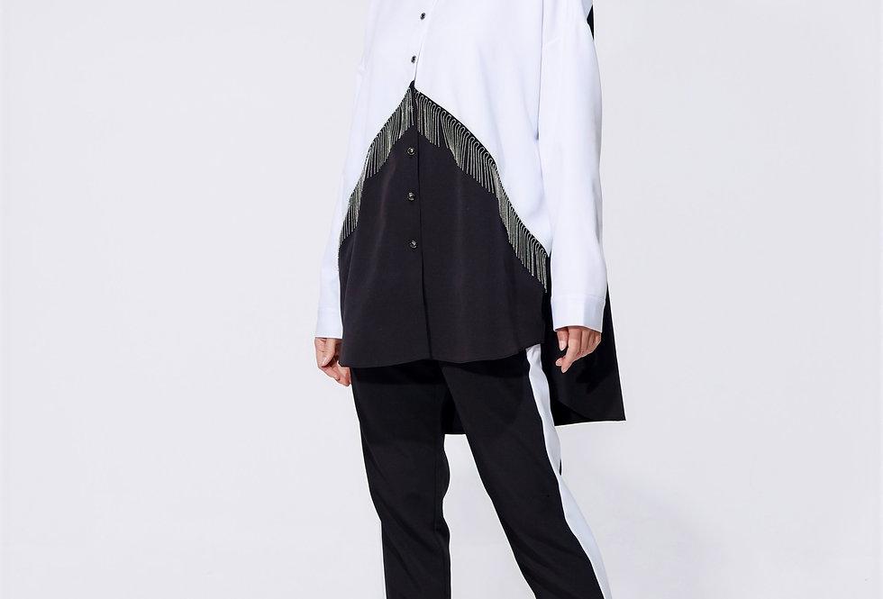 Блузка oversize двуцветная