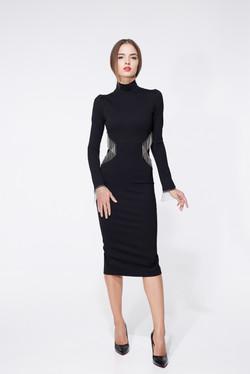 платье футляр черное2