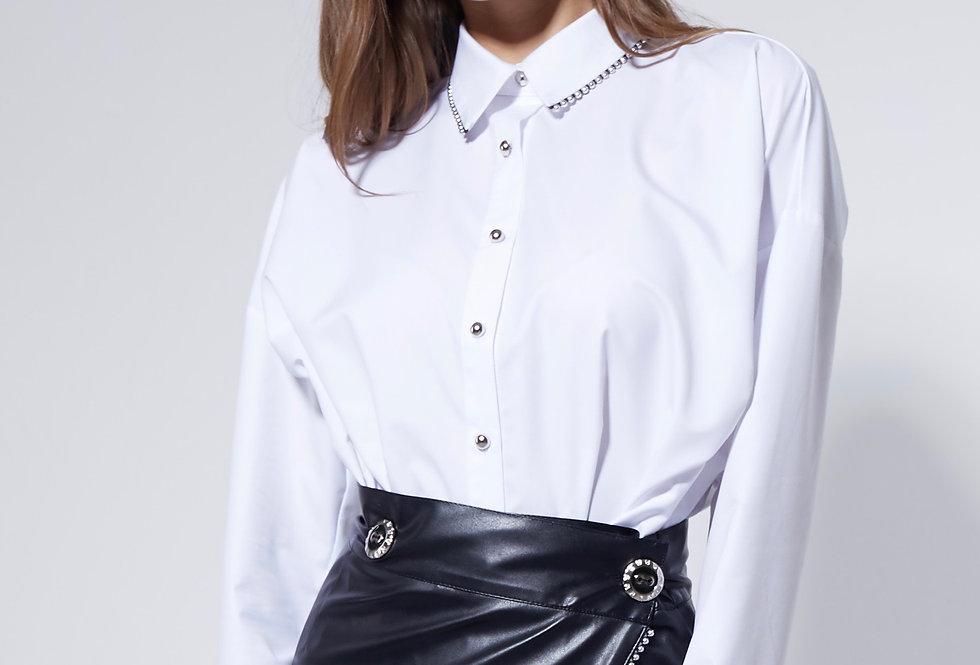 Белая рубашка с отделкой