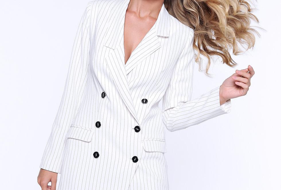 Платье-пиджак ассиметричный, белый