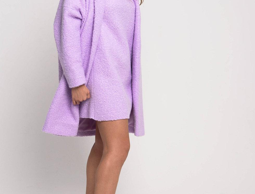 Пальто оверсайз, цвет сиреневый