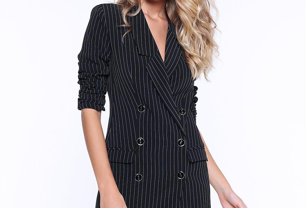Платье-пиджак ассиметричный, черный