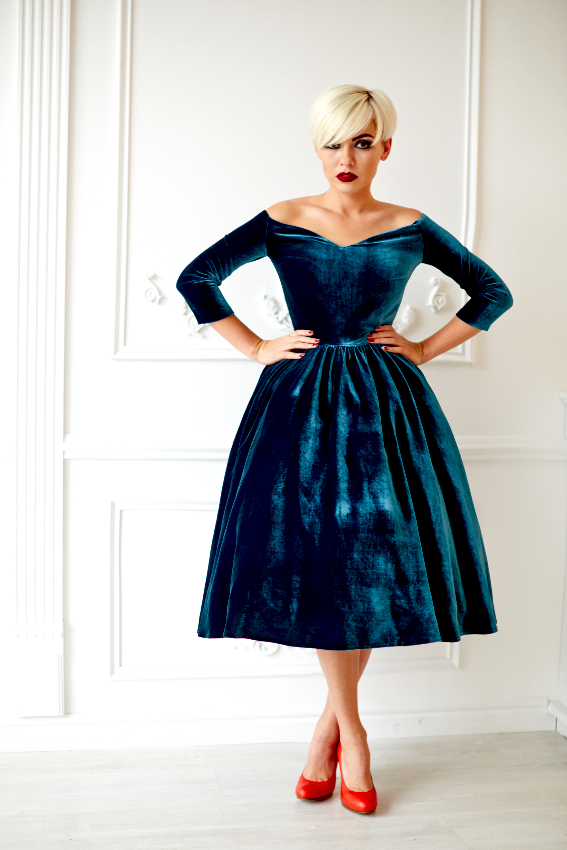 Платье New Look из бархата. Fall/Winter 2015/16