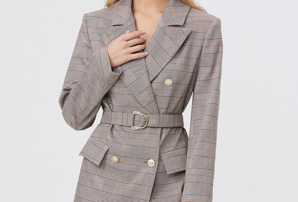 Платье-пиджак оверсайз дизайнерское