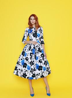 Платье дизайнерское из хлопка с