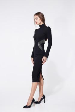 платье футляр черное3