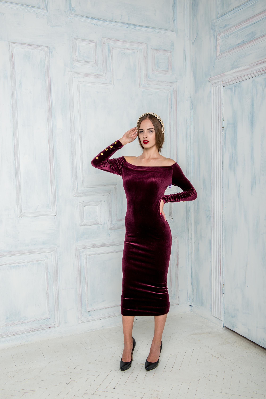 платье бархатное 3