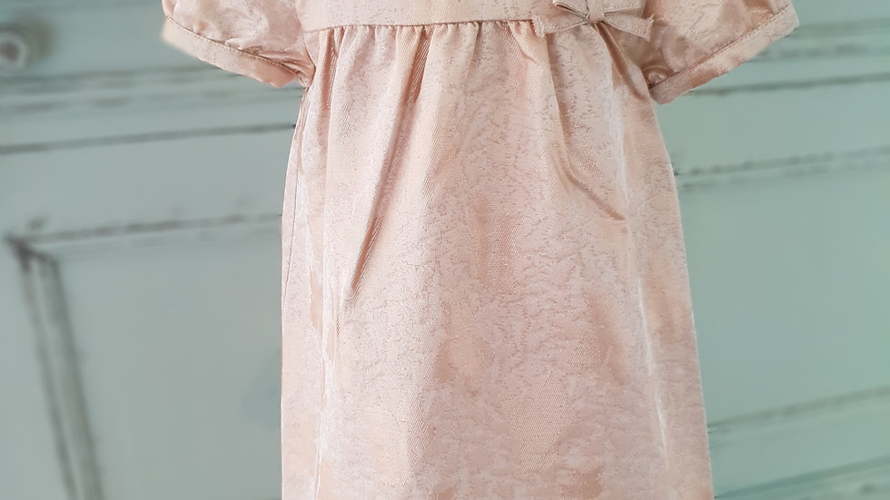 TODDLER - MARIE CHANTAL  -ROSE GOLD JACQUARD DRESS