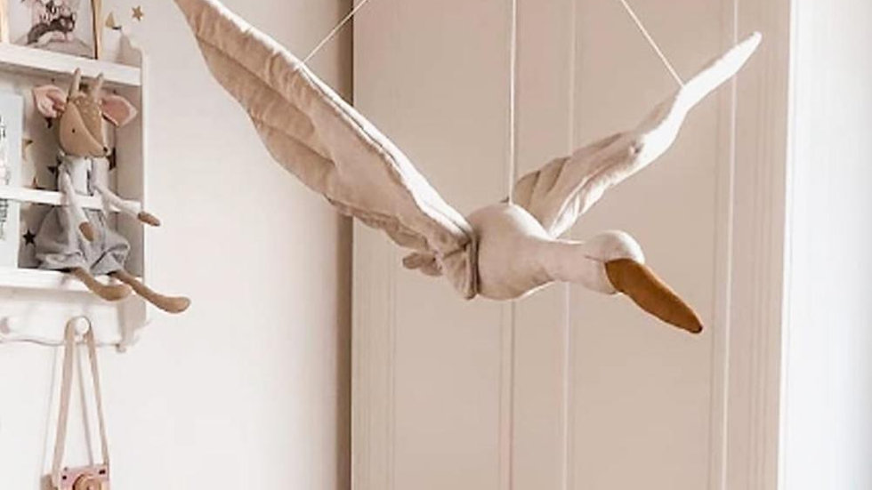 Hanging Swan -  Stuffed Nursery Decoration     [Decoration Only ]
