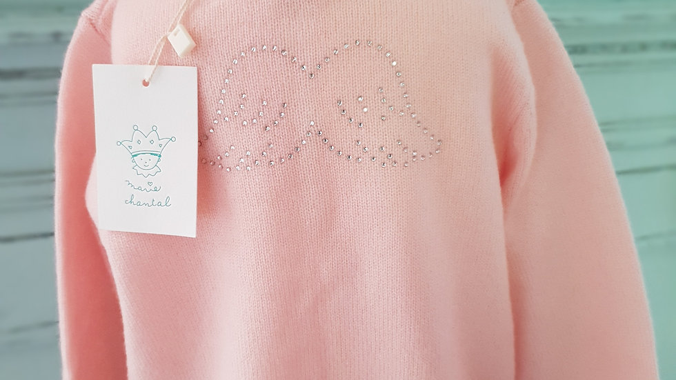 BABY/TODDLER - MARIE CHANTAL - ANGEL WINGS -DIAMANTE CASHMERE CARDIGAN