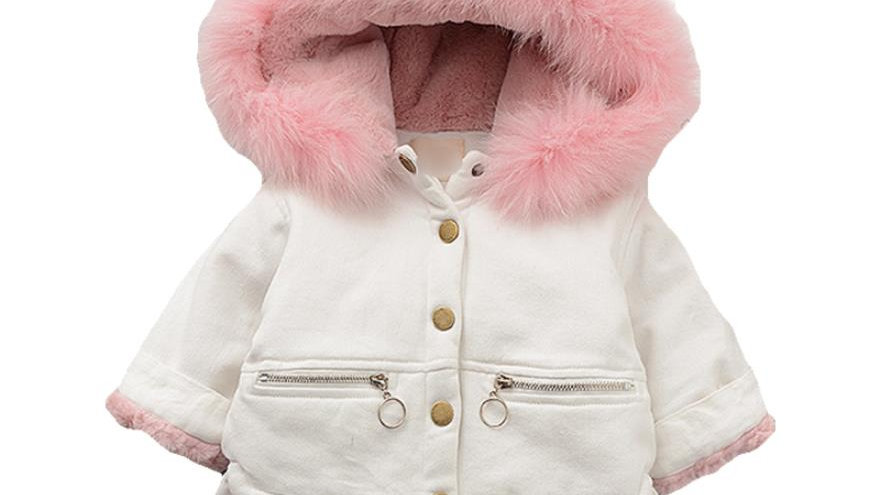 Winter Coats - Girls  Fur Collar Hood