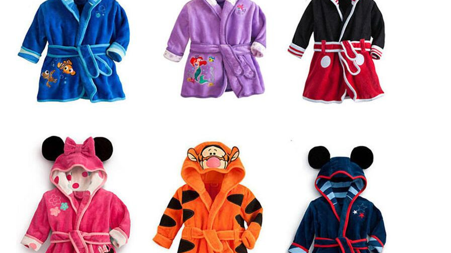 Children's Dressing Gown -  Baby pc 1 boy / girl  Character