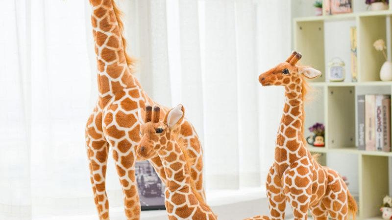 Lifelike Giraffe Plush Toys Real Life Cute Stuffed  Soft Giraffe