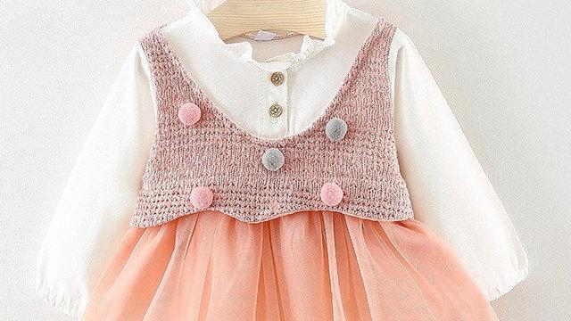 Lovely Little Girls Dress Toddler Kids Baby Bobble dress