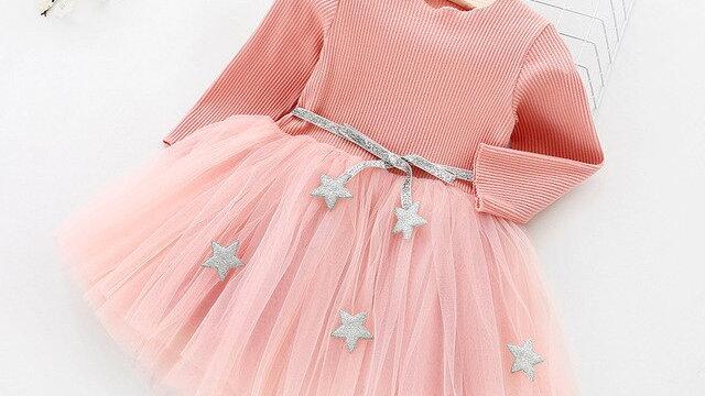 Girls Dress Star Sparkling  Princess Dress Girls Clothes