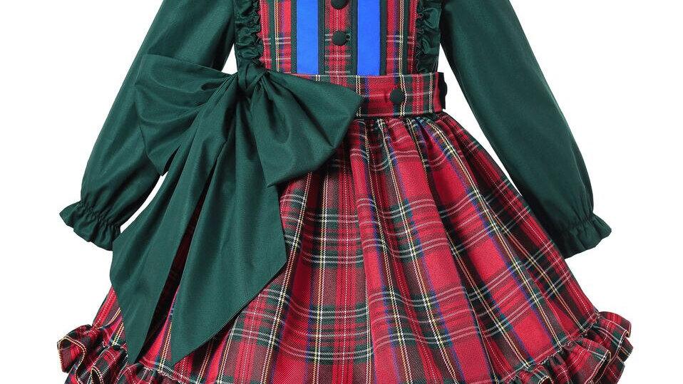 Red/Green Tartan - Dress Girl