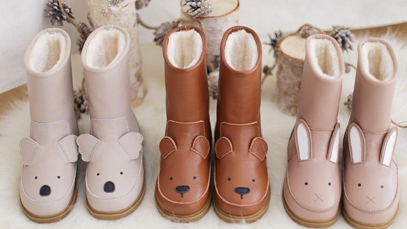 Cartoon Animals Children  Boots - Genuine Leather Rabbit