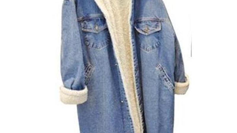 Women's Denim Winter Coat Thickened Denim Jackets