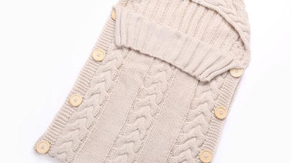 Newborn Baby Cute Knitted Crochet Hooded Sleeping bag