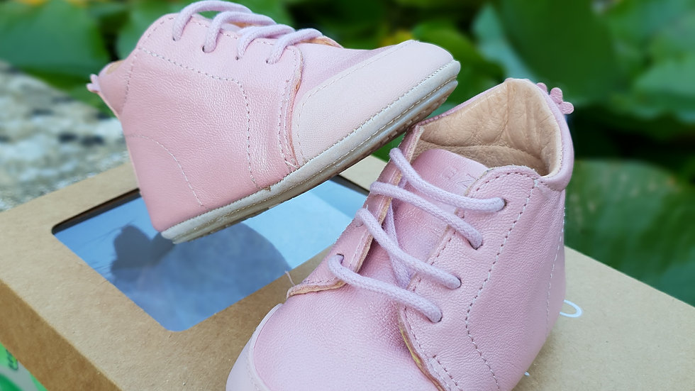 EASEY PEASY - PINK LEATHER BABY BOOTS