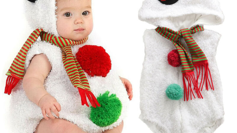 Christmas Newborn Snowman Infant Baby Girl Boy Rompers