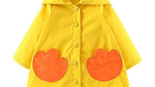 Kids Girls Boys Autumn Character  Duck  Windproof Coat