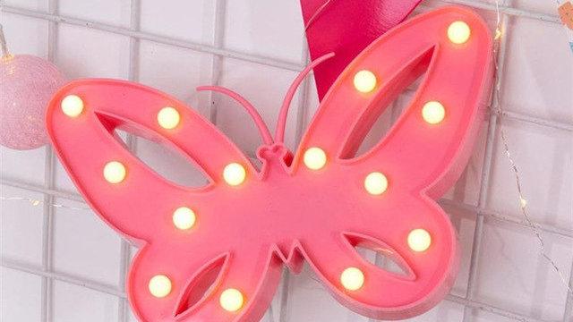 Butterfly Led Lamp Girls Bedroom Decor