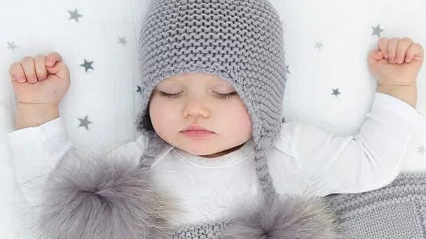 BABY /TODDLER -  Cable Knit Woollen-  Real Fur Bobble Hat - Baby /Toddler