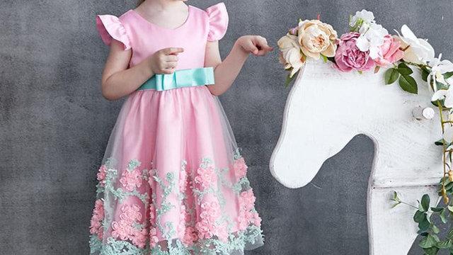 Floral Baby Girl dress -  Princess Bridesmaid