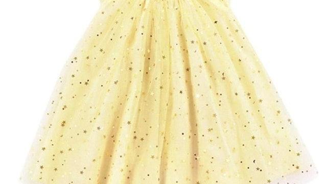 Infant Girls Sequined dress Star Print Bling Net