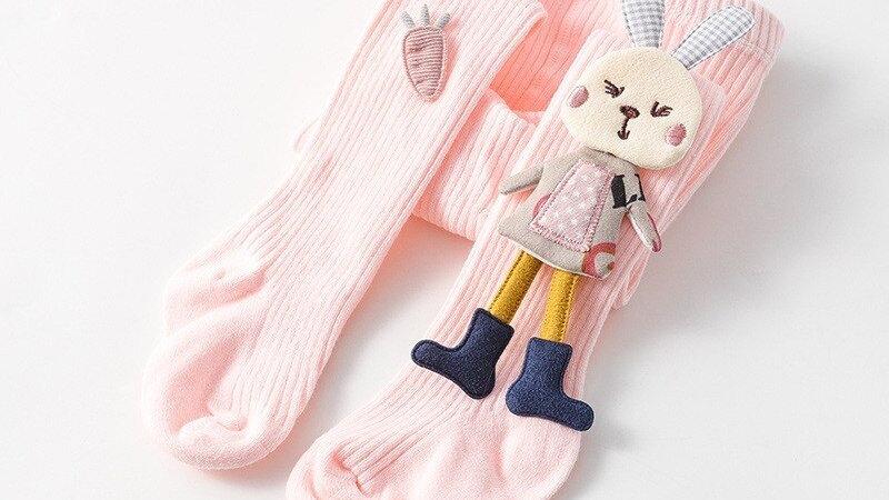 Baby Cartoon Tights Cute 3D Rabbit Cotton  Baby Girls