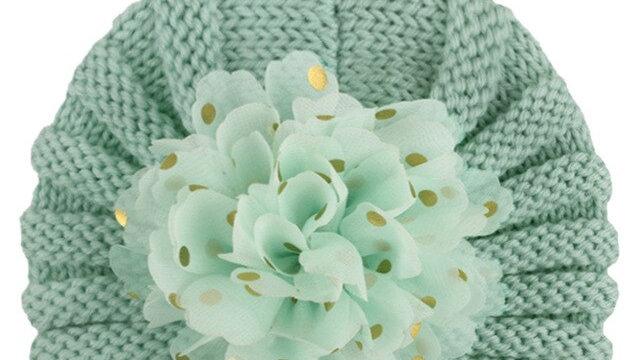 Baby Warm Flower Knit Woollen Hat