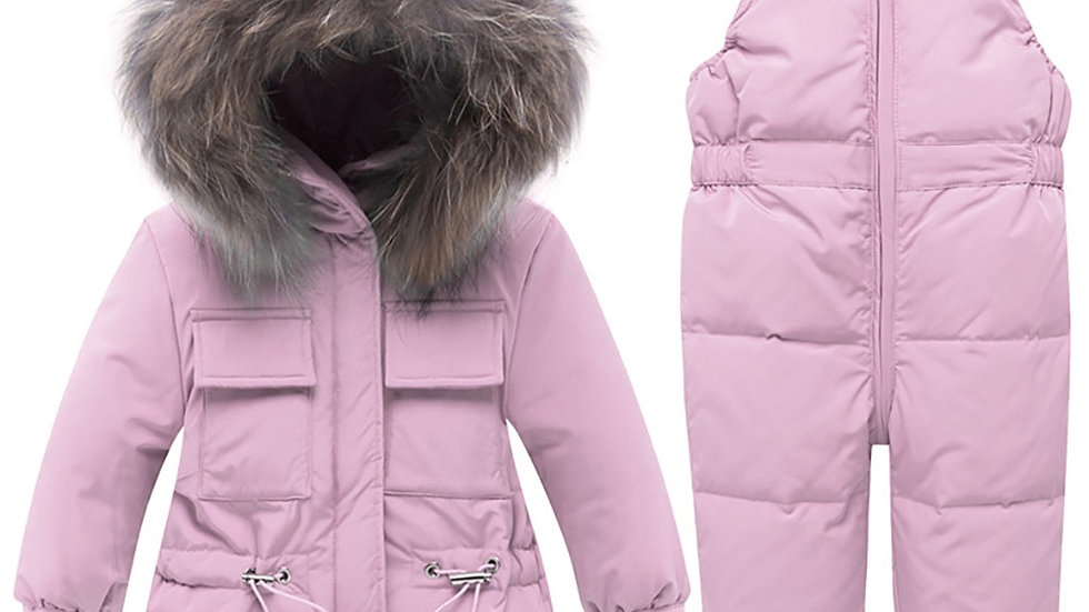 Girls Clothes New Baby Boy Long Sleeve Warm Hooded jacket & trousers