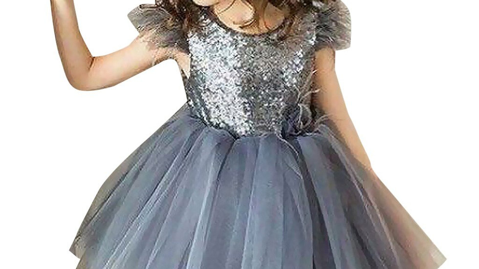 Baby/Toddler -  Girls Party Dress Sequins