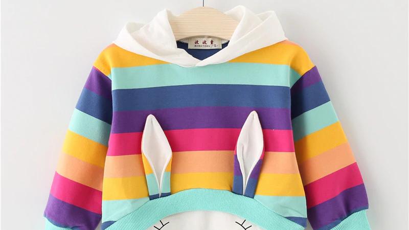 Rabbit Striped Sweatshirt -  Infant /Toddler
