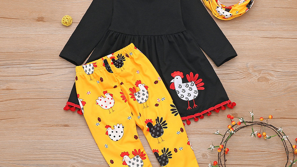 Toddler Kids Baby Girl Turkey  Dress/ Leggings Set
