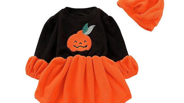 Toddler Baby Girls Dress Long Sleeve Halloween