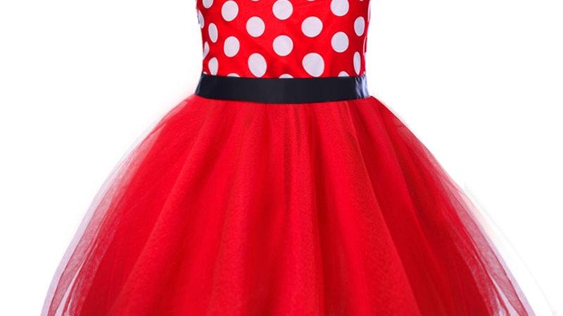 Girls Polka Dot Minnie Dress-  Beautifully Fun