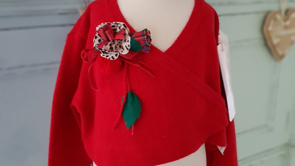 TODDLER -MONNALISA BEBE - DESIGNER - FLOWER BALLET STYLE CARDIGAN         Style