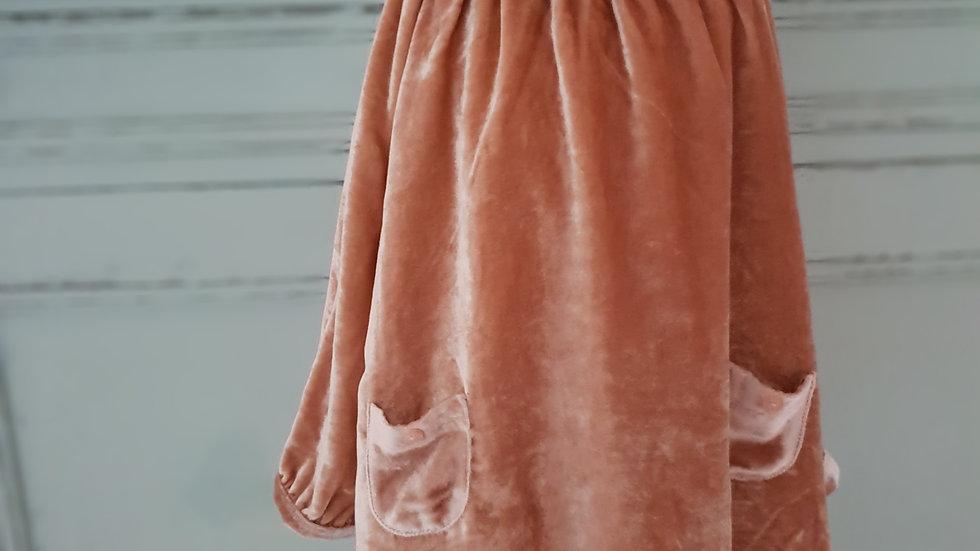 KIDS/TODDLER -MARIE CHANTAL- VELVET & LACE DRESS