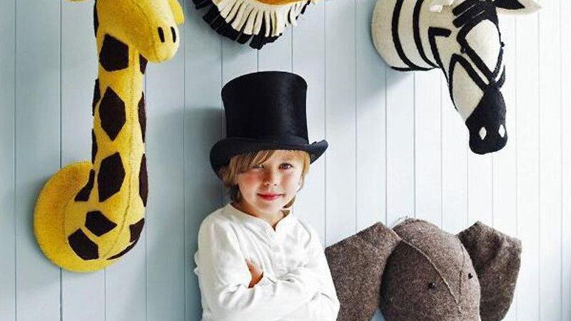 Baby /Kids  Children Room Nursery Animal Head Decoration
