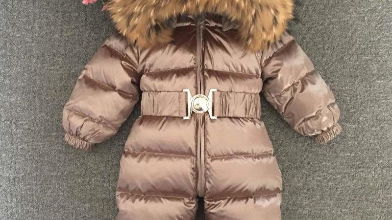 Kids /Baby /Toddler Clothes Girl/Boys  Winter Fur Snowsuit