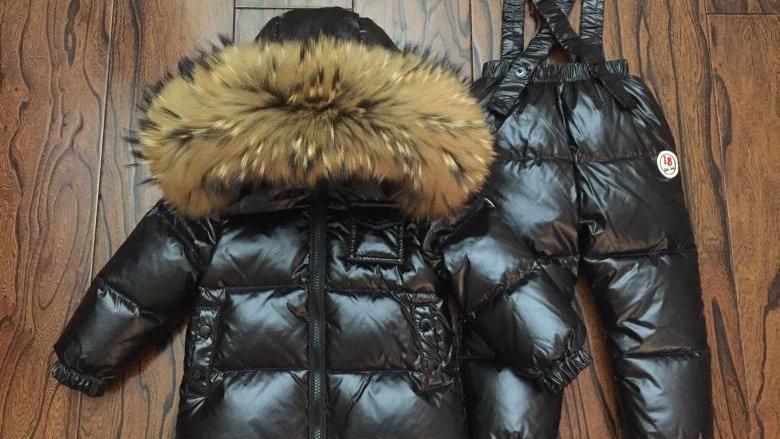 Russian Winter Down Suit Super Warm 2 Pcs Set Kids Snow Wear