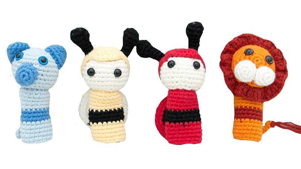 Finger puppet set knitted