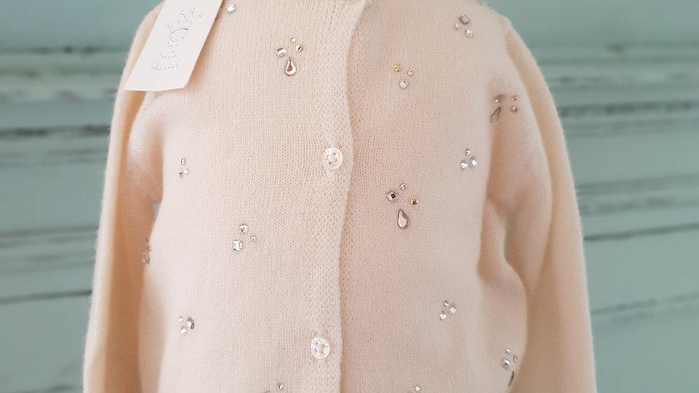 BABY/TODDLER - MARIE CHANTAL - SPARKLE DIAMOND CASHMERE CARDIGAN