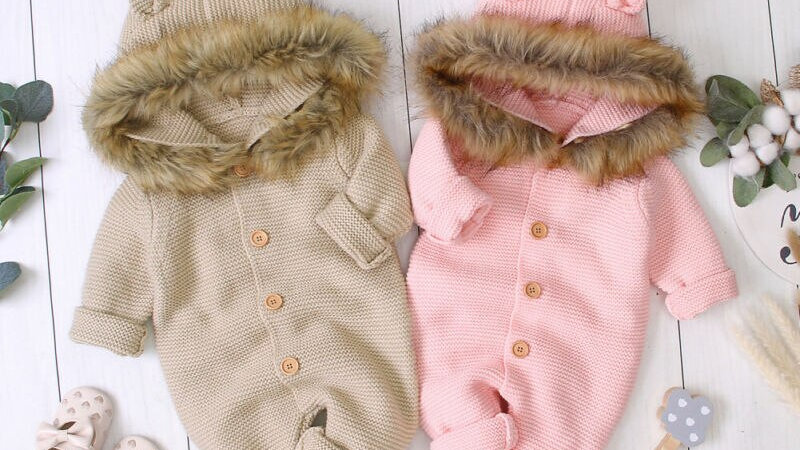 0 24M Baby Girl Boy Winter Rompers Clothes Knitted