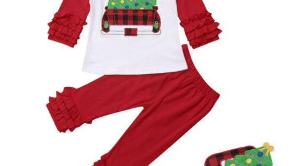 Cute Kids Baby Girls Christmas Clothes/ Christmas Eve Pyjamas