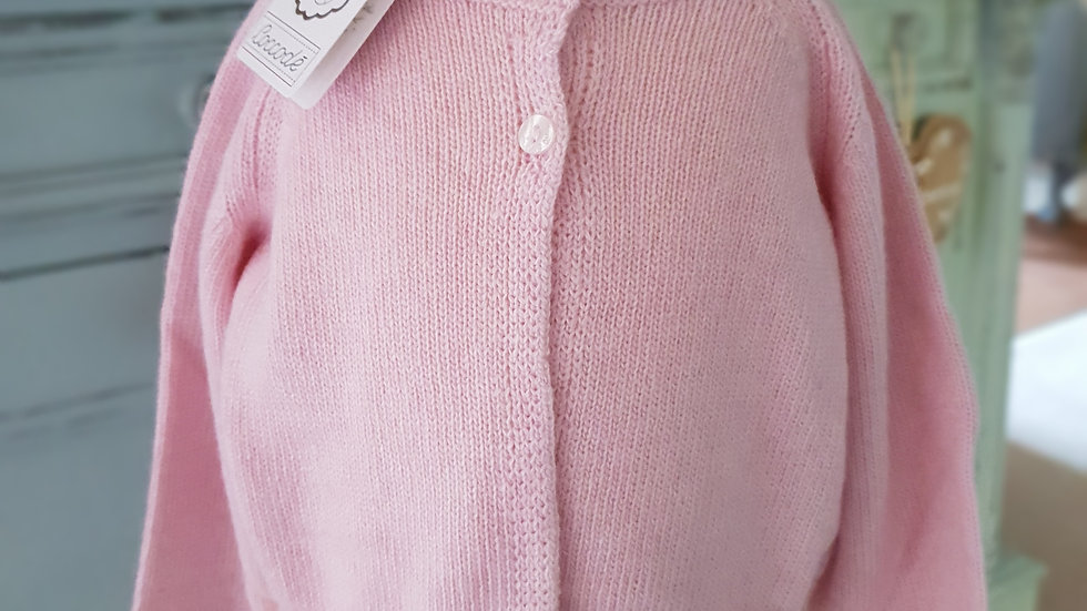 BABY/TODDLER - COCCODE CARDIGAN - PINK CASHMERE BLEND
