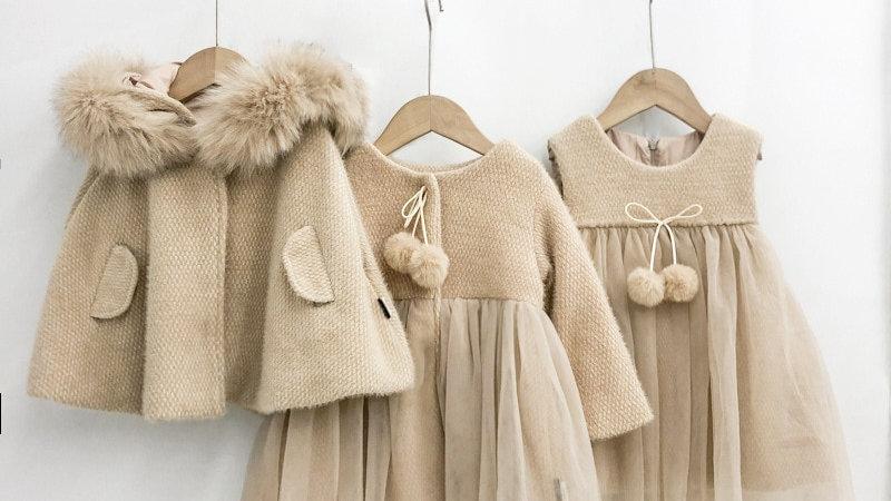 Winter Toddler  Dress / Cape / Long Sleeve Dress